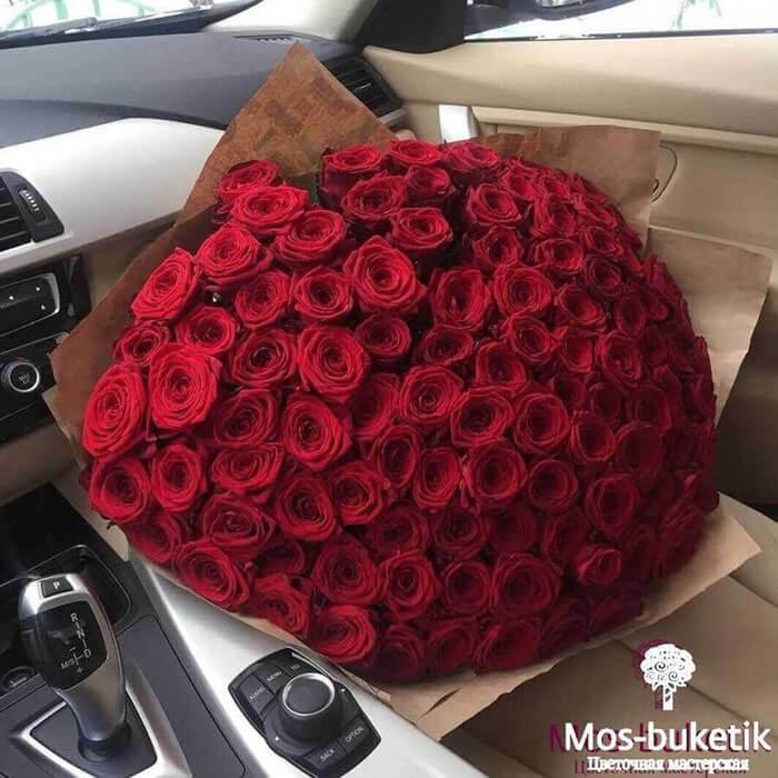 101 роза недорого