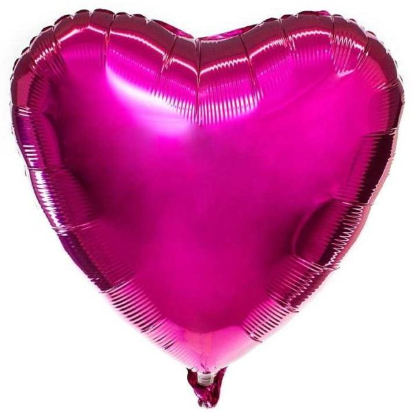 Сердце фольгированный шар с гелием (45 см)