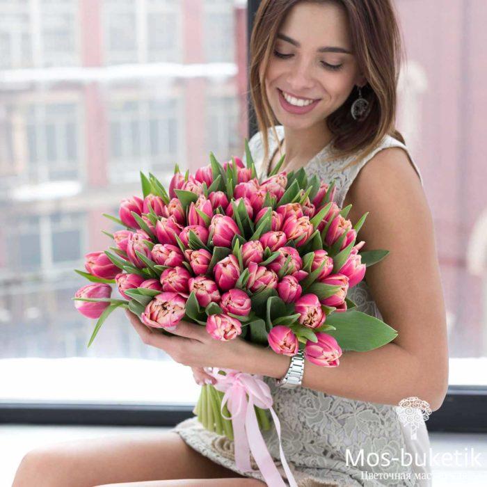 Букет из тюльпанов (51 шт)