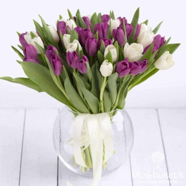 Букет из 51 тюльпанов недорого!