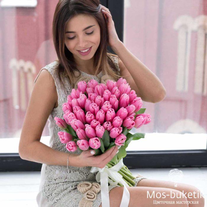 Букет из тюльпанов (51 шт) 7016
