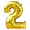 Шар гелиевый цифра 2