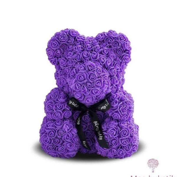 Мишка из роз №7