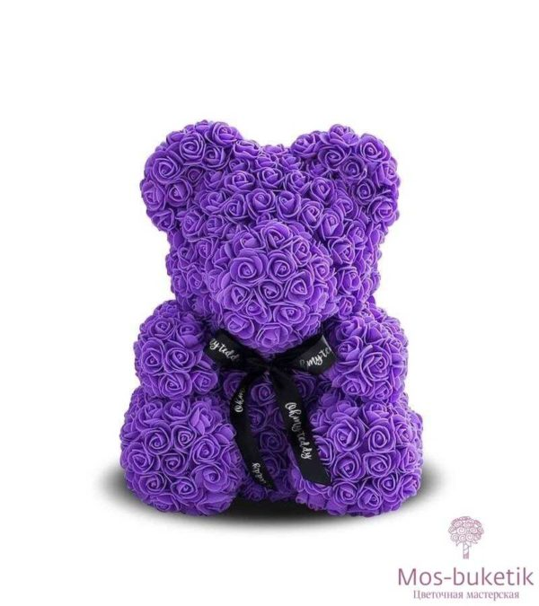 Мишка из роз, игрушки из цветов доставка