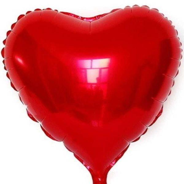 Сердце красное шар с гелием