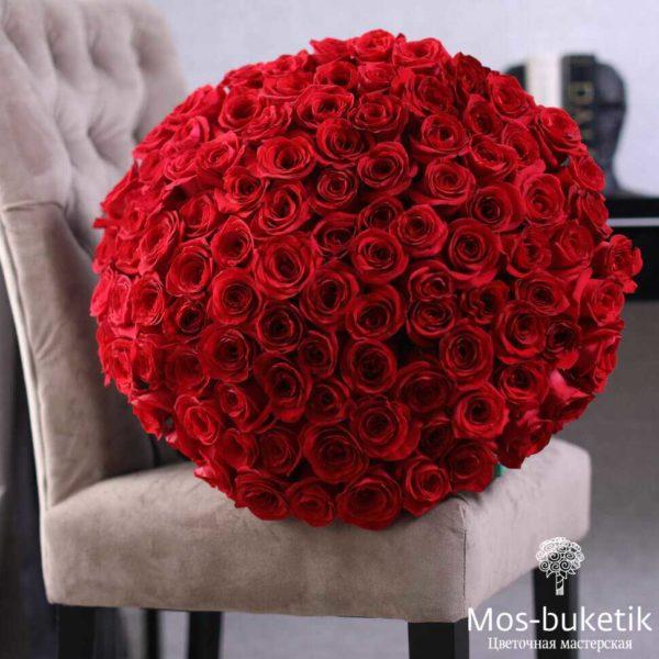 101 роза Фридом в ленте купить дешевый роз в Москве с доставкой!