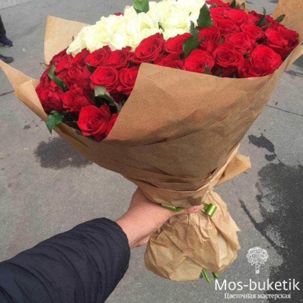 """101 красной розы с выкладкой """"сердце"""""""