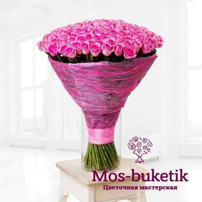 151 розовых роз