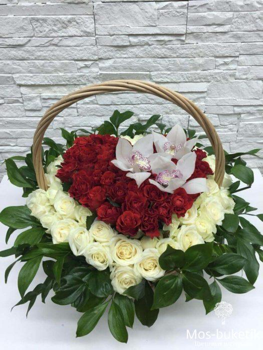 Розы в виде сердца №1