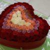 101 роза в шляпной коробке (сердца) 10757