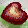 101 роза в шляпной коробке (сердца) 10758