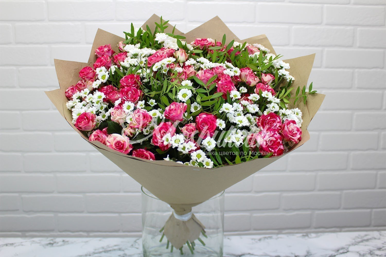 авторский букет из голланских роз