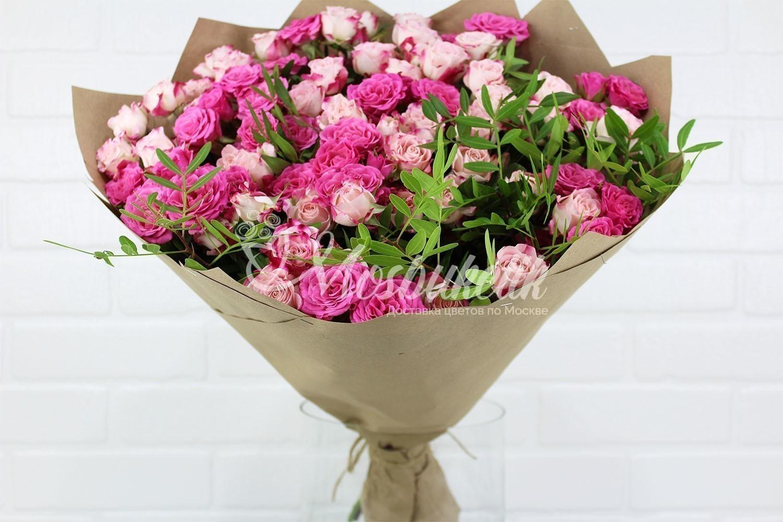 Букет из кустовых роз из рижского рынка недорого в Москве