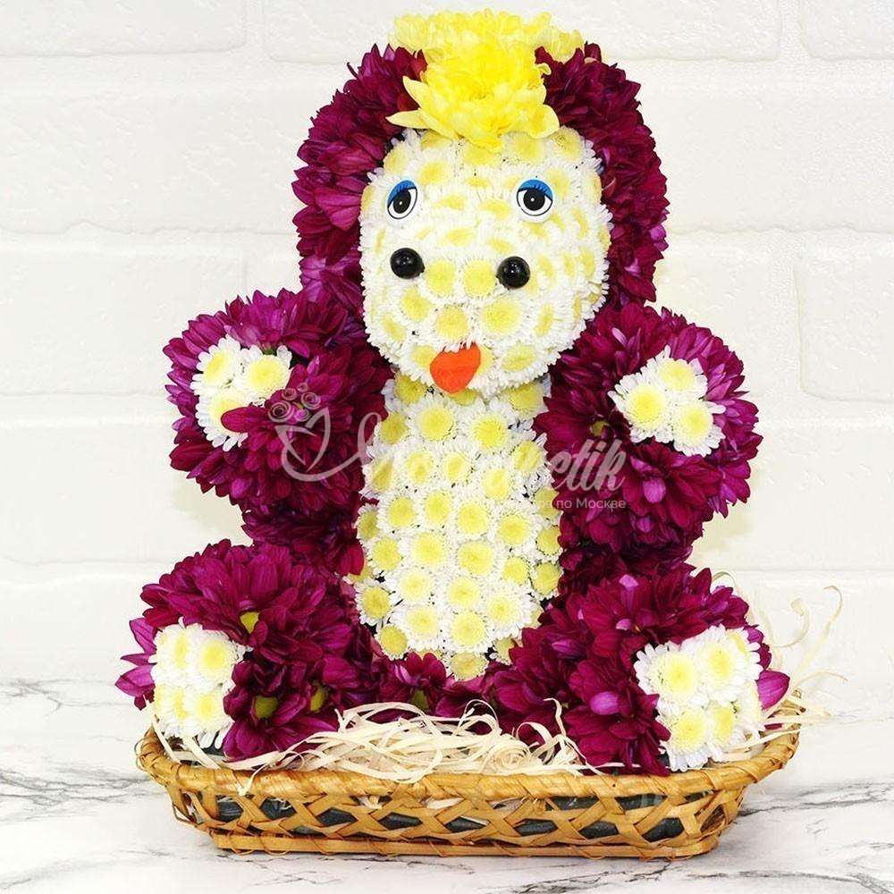 Игрушка из живых цветов в москве единарог прикрасный подарок недорого мосбуктикИгрушка из живых цветов в москве единарог прикрасный подарок недорого мосбуктик