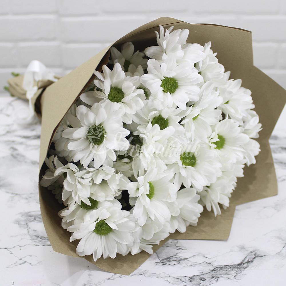 Букет 5 кустовых хризантем