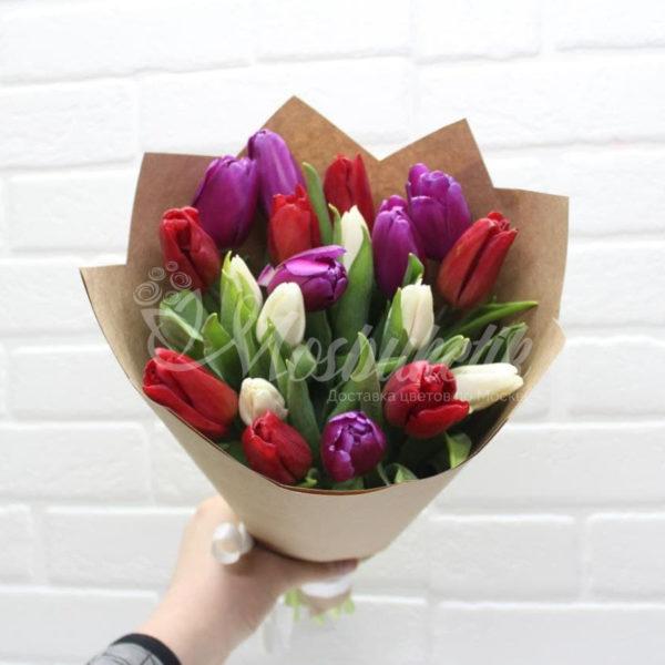 25 микс тюльпанов