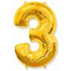 Шар гелиевый цифра 3