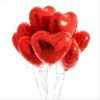 Сердце красное шар с гелием 9324