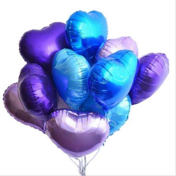 заказатьсердце фиолетовое шар с гелием в Москве