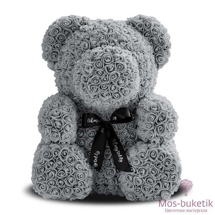 Мишка из роз №8
