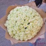 Букет из 101 белой розы (50 см)