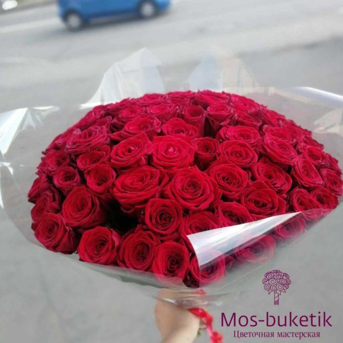 Букет из 101 роз в ленте