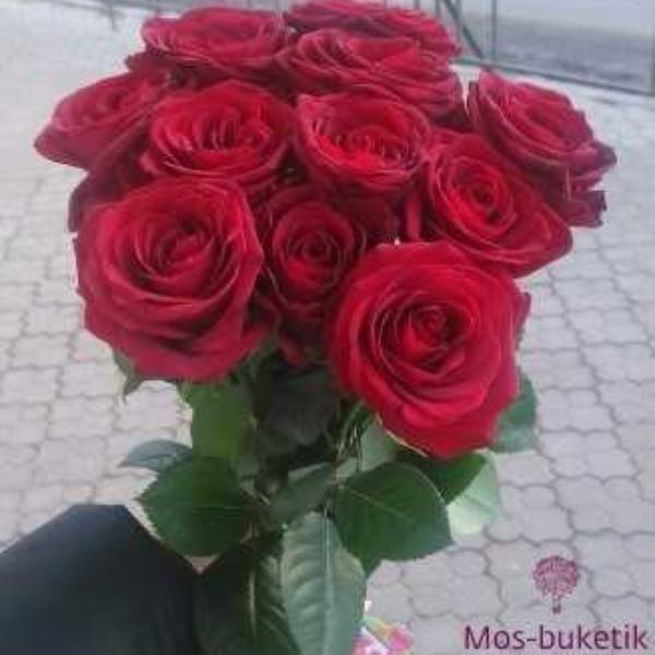 Букет из 11 роз в ленте