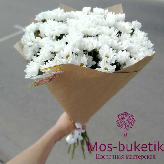 Букет из 15 хризантемы