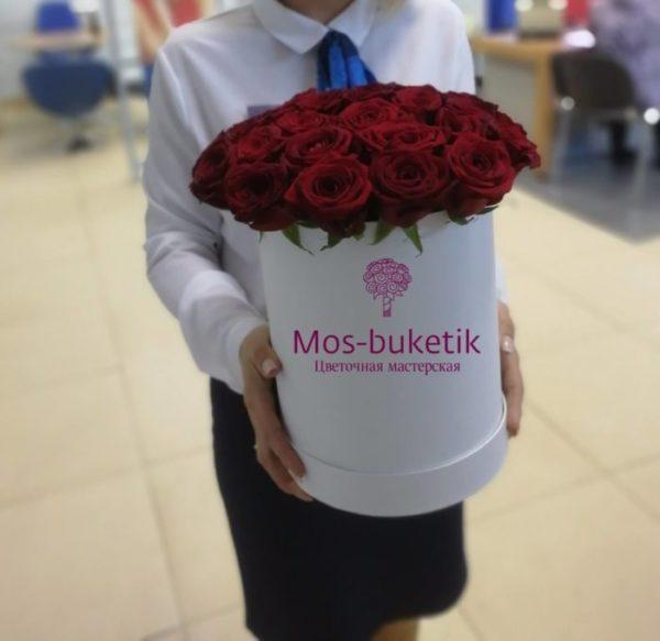 Букет из 21 роз в коробке