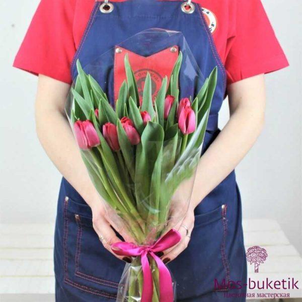 Букет из розовых тюльпанов (25 шт)