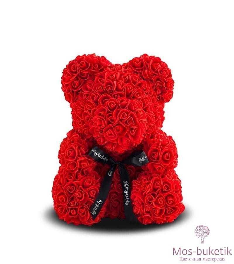 Мишка из роз №3