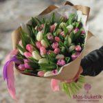 Микс-букет из тюльпанов (51 шт)
